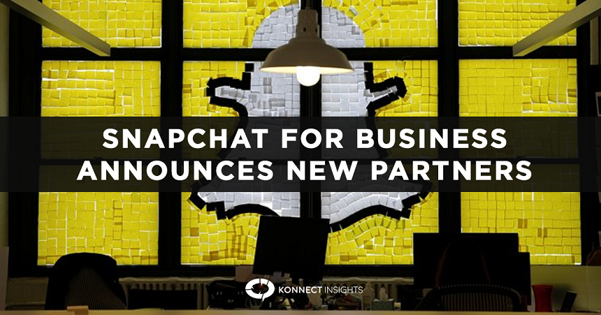 Snapchat for Business announces 14 new partners