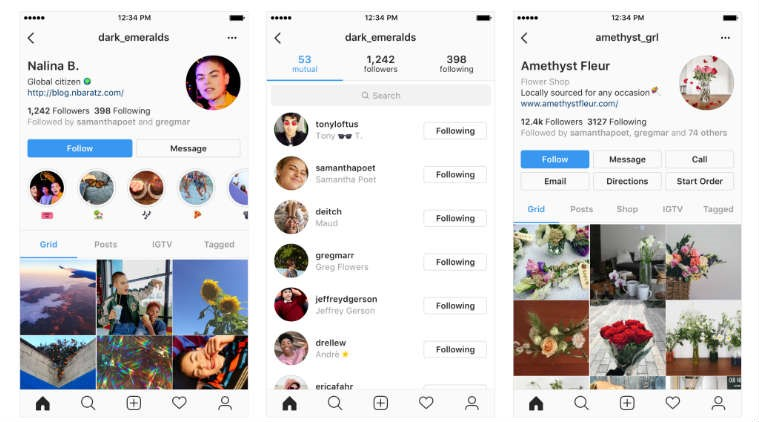 Instagram's new profile page redesign- Konnect Insights