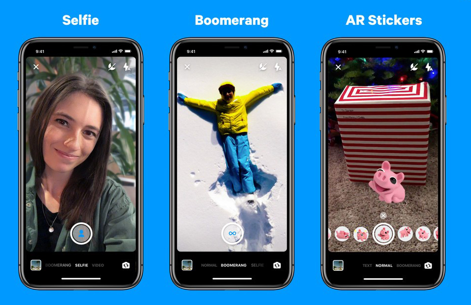 Facebook selfie, Boomerang Ar stickers.- Konnect Insights